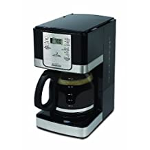Sunbeam 12-Cup Programmable Steel Coffeemaker, Black/Stainless