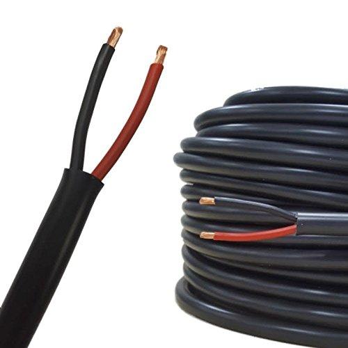 Rundes zweiadriges Kabel, 15 m, 2,5 mm, 29 A, Dü nnwand, fü r Autos und Boote N&C