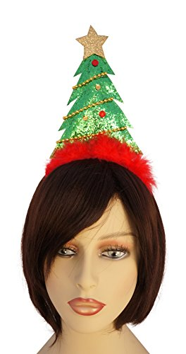 Christmas Tree Green Sequin Hat Headband Party Accessory (Crazy Costumes For Kids)