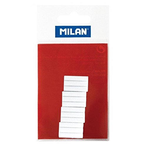 (Ship from USA) Milan Electric Battery Operated White Eraser Refills for Graphite LPM10059 12 pc