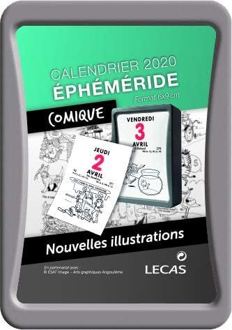 Lecas Bloc calendrier éphéméride avec dessins humoristiques 2020