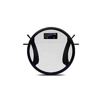 J&A Aspirador Robótico, Aspirador Ultrafino De 6 Cm con 3 Modos De Limpieza Especializados,