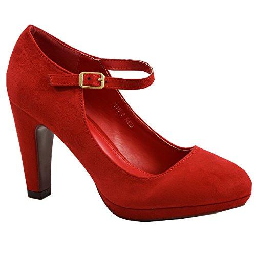 Cucu Femme Bride Cheville Red Fashion rCqapr