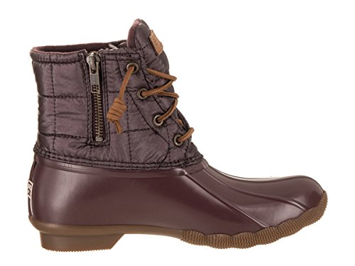 Saltwater Top Women's Quilted Boot Sider Shiny Rain Sperry Grape zHTqxUtwT