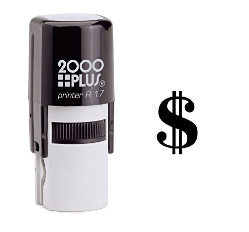 StampExpression - American Dollar Sign Self Inking Rubber Stamp - Black Ink (A-6390)