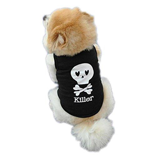 Howstar Pet Shirt, Puppy T-Shirt Soft Pet Vest Cute Dog Clothes Summer Apparel (B, S)
