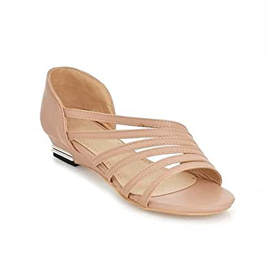 Sandalias con Cuña Mujer Verano Peep Toe Zapatos Zapatillas Playa Boda: Amazon.es: Zapatos y complementos