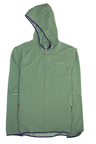 Nike Lab X Undercover Gyakusou Mens Unlined Stretch Ventilated Hooded Running Jacket 743343 (XX-Large, Green 320)
