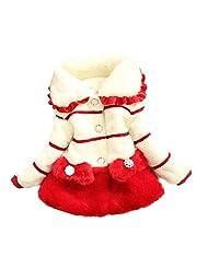 Baby Girls Kids Toddler Winter Long Sleeve Fur Outerwear Snowsuit Coat Jacket