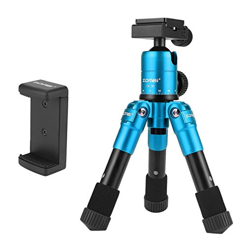 ZOMEI ZM-CK30-BIUE Portable Compact Desktop Macro Mini Tripod with 360 Degree Ball Head