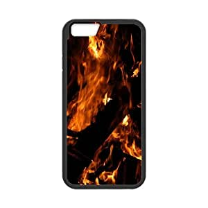 Iphone 6 Case, campfire at night Case for Iphone 6 4.7 screen Black tcj564041 tomchasejerry