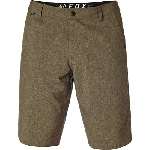 Essex Walkshort - Fox Men's Essex TECH Quick Dry Short, Heather Dark Khaki, 32