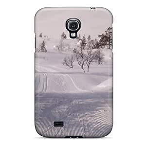 Anti-scratch And Shatterproof Winter Snowtracks Phone Case For Galaxy S4/ High Quality Tpu Case