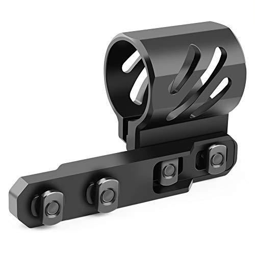 Feyachi M-Lok Offset Flashlight Ring Mount for Mlok Rail System - 2 Mounting Inserts Included fits 27mm 25.4mm 20mm Diameter -