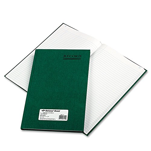 (National 56111 Emerald Series Account Book Green Cover 150 Pages 12 1/4 x 7 1/4)