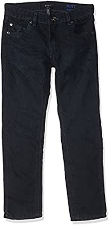 DKNY Boys' Big Mott Stretch Denim Straight Fit Jean, Blue/Black, 12