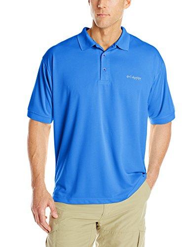 Columbia Sportswear Perfect Cast - Columbia Sportswear Big and Tall Perfect Cast Polo Shirt, Vivid Blue, 1X