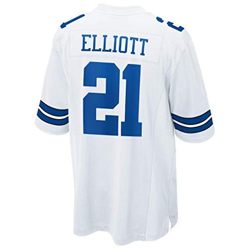 Men's/Women's/Youth_Dallas_#21_Ezekiel_Elliott_White_Game_Jersey