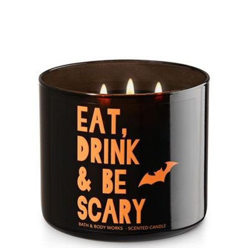 Bath & Body Works Eat, Drink & Be Scary Bourbon Sea Salt 3-Wick Candle