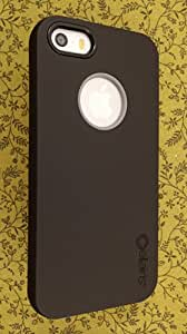Rapture Full Moon Two-Piece Snap-On Case with Silicone Interior Skin for Apple iPhone 5 / 5S - Black / Gray