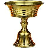 6-Piece Set Ghee Lamp Holder Height 6cm Candle Holder Tibetan Brass Butter Copper Oil Lamp Buddhist Supplies (Candle holder 2#)
