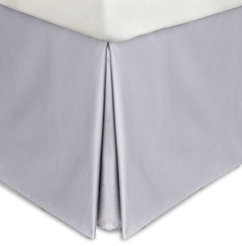 Calvin Klein Home Full Solid Percale-Hyacinth Bedskirt