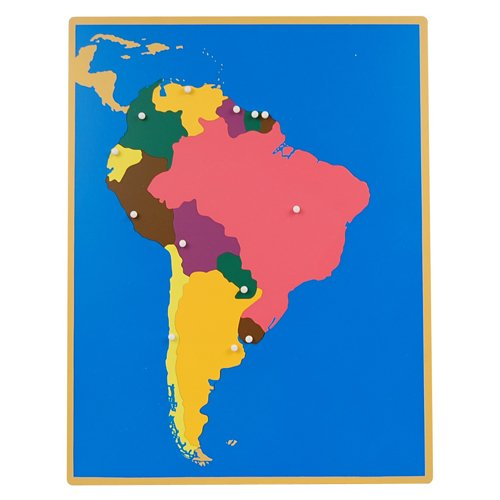 Montessori Puzzle Map of South America (Without Control maps)
