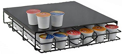 36 K-Cup Under The Brewer Storage Drawer - Fits Keurig Kcup Pods Holder - Coffee