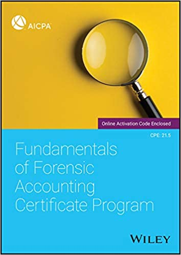Fundamentals of Forensic Accounting Certificate Program: AICPA