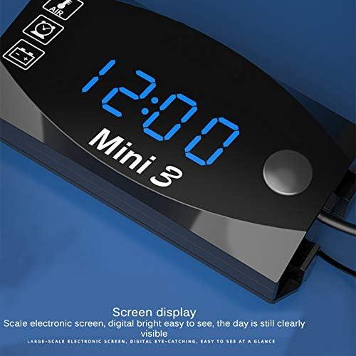 Voltmeter Uhr LED Digitalanzeige 12V 3 in 1 Fahrzeug Car Kit Thermometer