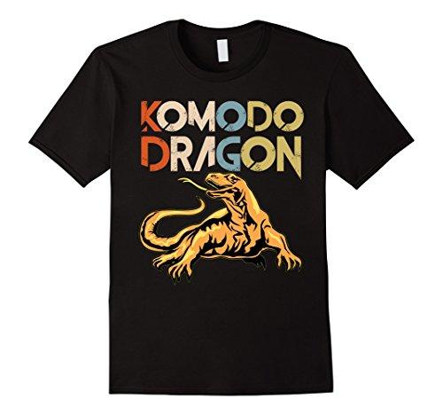 Komodo Dragon Shirt Vintage Style Komodo Dragon Silhouette