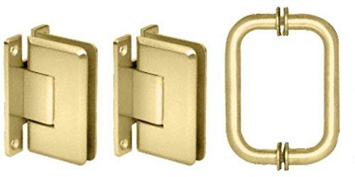 (CRL Polished Brass Cologne Shower Pull and Hinge Set)