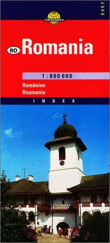 Rumänien 1 : 800 000 (Cartographia Euro Road Maps) (Englisch) Landkarte – Folded Map, 2001 Collectif Travel House Media 9633524571 Europa