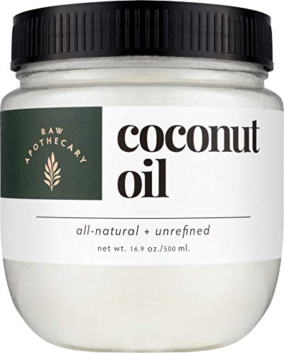 Organic Extra Virgin Coconut Oil by Raw Apothecary- USDA Certified All-Natural Cooking Oil and Beauty Remedy (16.9 Ounces)