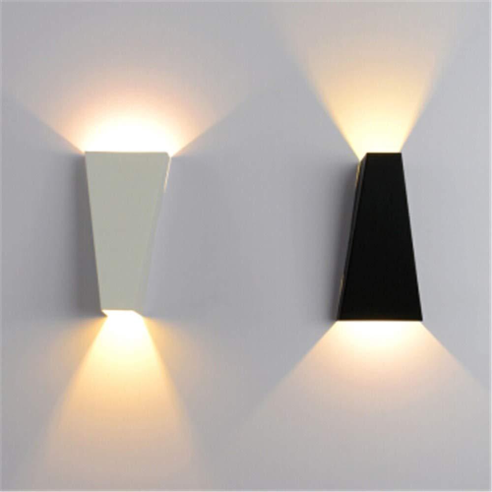 Nachtwandlampe nordische einfache moderne wohnzimmer hause warm gang wandleuchte flur Europäischen einfache Europäische kreative led schlafzimmer wandleuchte 6 watt warmes licht, schwarz