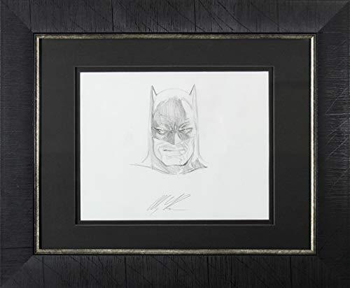 Alex Ross Signed & Framed 8x10 Hand Drawn Pencil Batman Original Art Sketch BAS