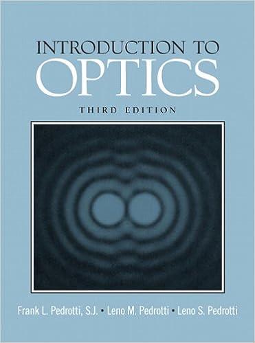 introduction to optics 3rd edition pedrotti
