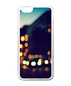VUTTOO Iphone 6 Case, Blurred City Traffic Lights And Buildings Snap-On TPU TPU Transparent Bumper Case for Apple iPhone 6 4.7 Inch