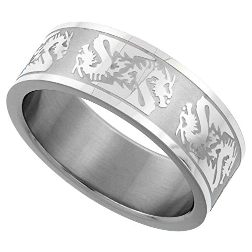 Surgical Stainless Chinese Dragon Wedding