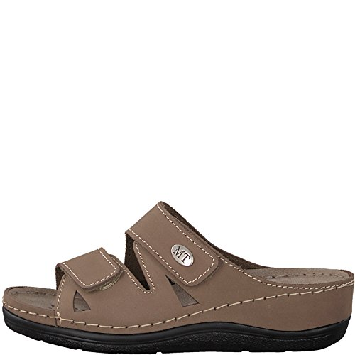 Marco Tozzi Womens Premio 27512 Real Leather Mules Taupe N4FJo0rR