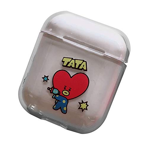 (Jacobera Kpop BTS Airpods Case, Protective Hard Cover Chargeable Headphone Case Charging Case AirPods Accessories(TATA))