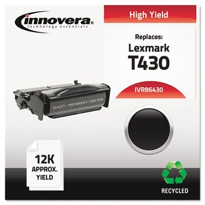 Innovera 86430 12000 Yield Remanufactured Toner, Black (Laser Printer T430)