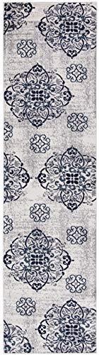 - (3' x 10' Runner Rug) Diagona Designs Contemporary Floral Medallion Design Runner Area Rug, 31
