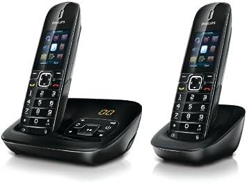 Philips CD6852B/AT - Juego de teléfonos inalámbricos DECT (3 perfiles de sonido, iluminación de pantalla y teclado, función de altavoz, diseño ecológico) [Importado de Alemania]: Amazon.es: Electrónica