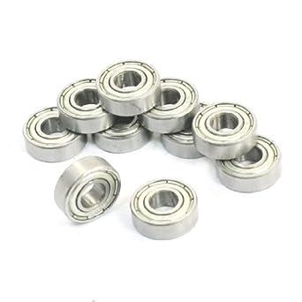 10 piezas de las bandejas metálicas 696ZZ sellado 6x15x5mm rodamientos rígidos de Bolas