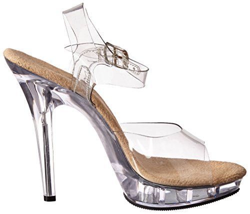 Platform Women's Pleaser T Clear Sandal C Clear Tan Lip IPpqxP