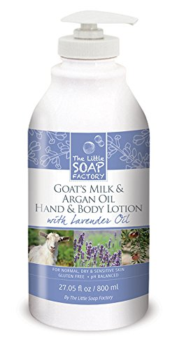 Janice Goat's Milk and Argan Oil Lotion, Lavender, 27.05 Fluid Ounce