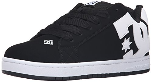 DC Men's Court Graffik Skateboarding Shoe, Black, 12 D D US
