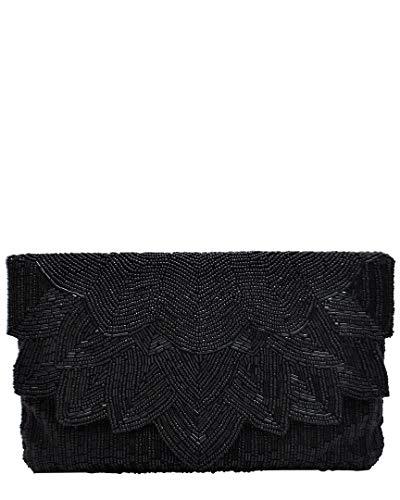 Handbag Regale La Beaded (La Regale Beaded Flap Clutch)