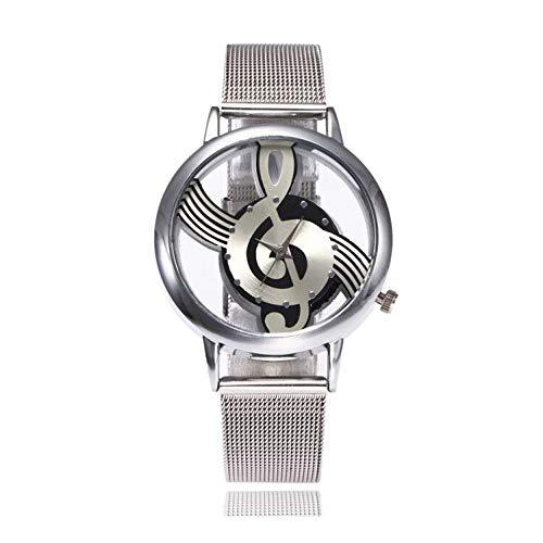 ... Impermeable Empresas Nota Musical Movimientos Cuarzo, Banda de Acero Inoxidable Duradera Informal, Adecuada Cualquier ocasión: Amazon.es: Relojes